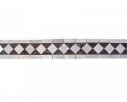 Marbre Frise Blanc - Noir Poli 28,5x12 cm 2