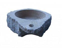 Travertin Noce Vasque Lave Main Angle Éclate  2