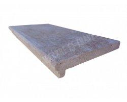 Travertin Walnut Nez de Marche 30,5x61x5 cm Ogee   2