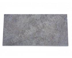 Travertin Silver Nez de Marche 30,5x61x3 cm Arrondi