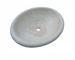 Travertin Classique Vasque Ovale Encastrer Adouci 2