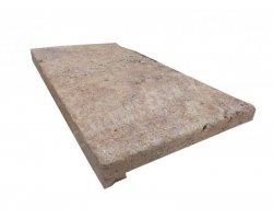 Travertin Jaune Nez de Marche 30,5x61x5 cm Droit  2