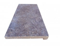 Travertin Walnut Nez de Marche 30,5x61x5 cm Droit  2
