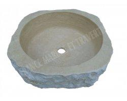 Travertin Classique Vasque Carre 40x40 cm Éclate 2