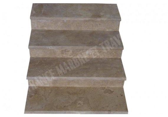 Travertin Walnut Marche Escalier 100x30x3 cm Adouci 1