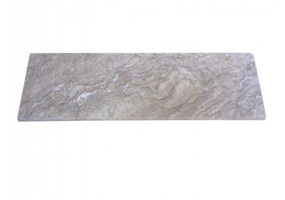 Travertin Chocolat Marche Escalier 100x30x3 cm Vieilli  1
