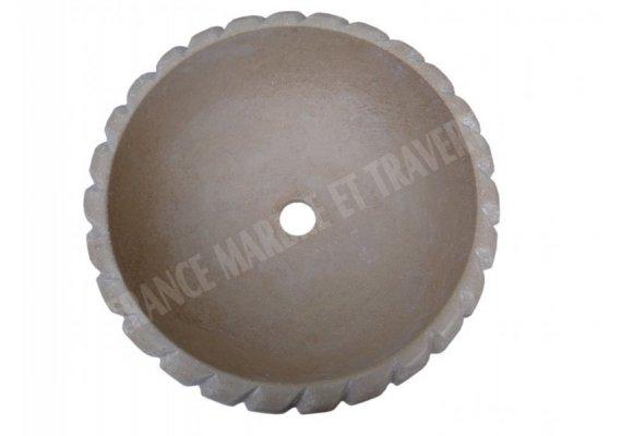Travertin Classique Vasque Encastrer Corde Adouci 1