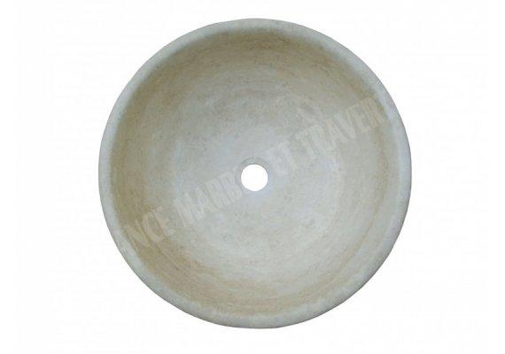 Travertin Classique Beige Vasque Bol Eclaté 1