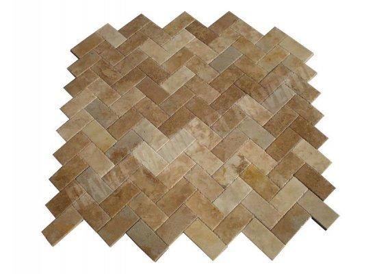 Travertin Classique Pavé 15x30x3 cm Adouci  1