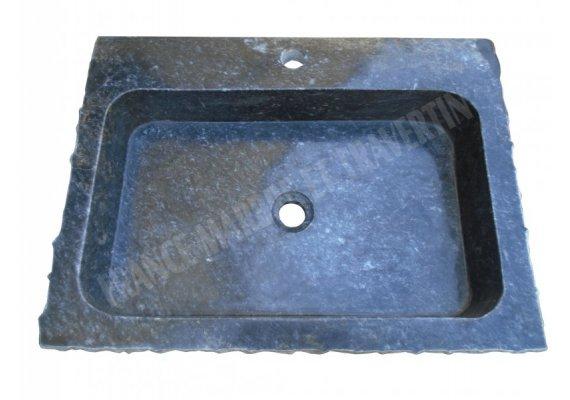 Marbre Noir Évier Éclate 60x44x12 cm Poli 1