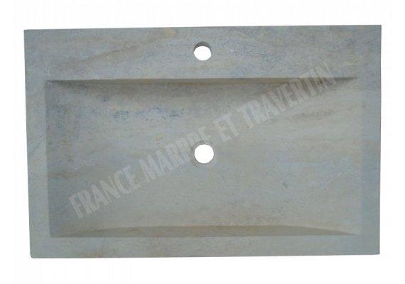 Travertin Classique Évier Motif D 70x45x10 cm Adouci 1