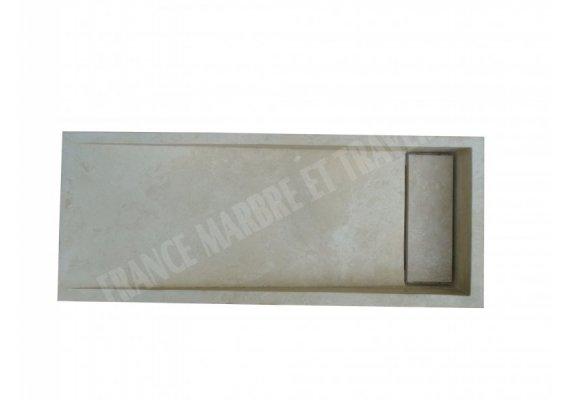 Travertin Classique Évier Bouchon 100x40x15 cm  1