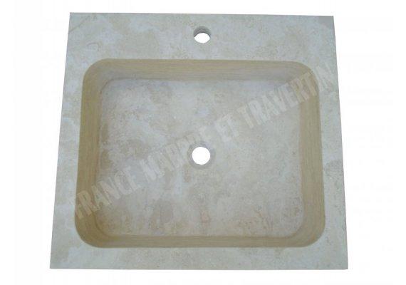 Travertin Classique Évier 55x50x15 cm Adouci 1