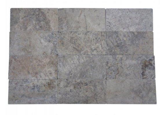 Travertin Silver Pavé 15x30x3 cm Antique 1'er Choix 1