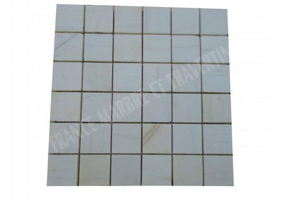 Dolomite Blanc Mosaïque 4,8x4,8 cm Adouci 1