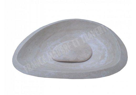 Travertin Classique Vasque Goutte Bouchon Adouci 1