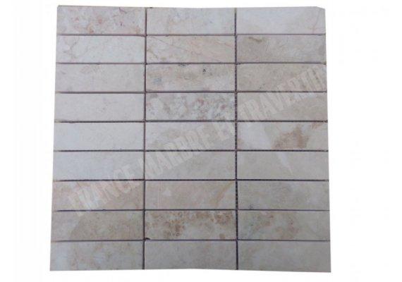 Marbre Beige Marfil Mosaïque 3x10 cm Poli 1