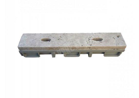 Travertin Classique Grille Ovale 9x50x3 + PVC 1