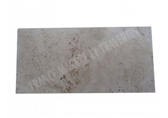 Travertin Beige Couvertine 25x50x2 cm Arrondi 1