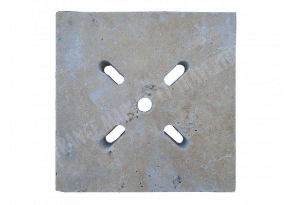 Travertin Classique Siphon Ovale 18x18x3 cm 1