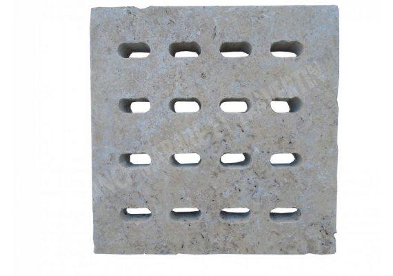 Travertin Classique Siphon Petit Ovale 18x18x3 cm 1