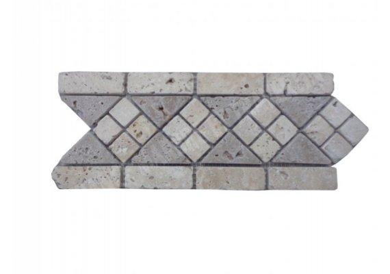 Travertin Frise Mosaïque Classique & Noce 28,5x12 cm 1
