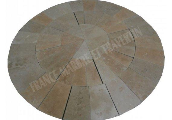 Travertin Beige Cercle Manoir Diamètre 270 cm  1