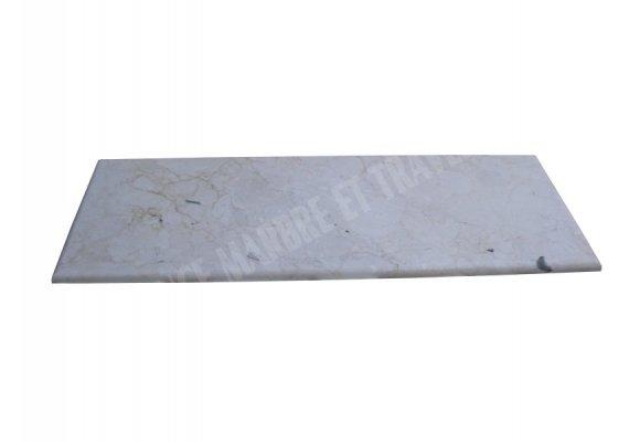 Marbre Marfil Beige Plan Vasque 166x60x3 cm Adouci 1