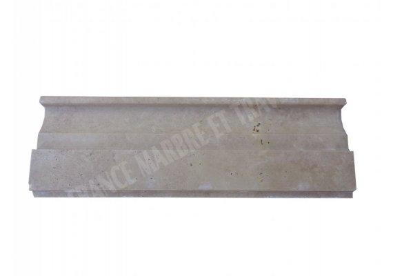 Travertin Noce Moulure 30x10 cm Base Board Adouci 1