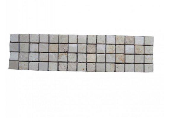 Travertin Frise Mixte Mosaïque 25x6,5 cm 1