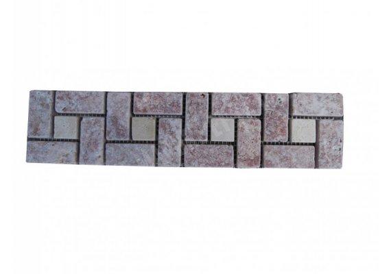 Travertin Frise Rose& Classique Target 30x7,5 cm 1