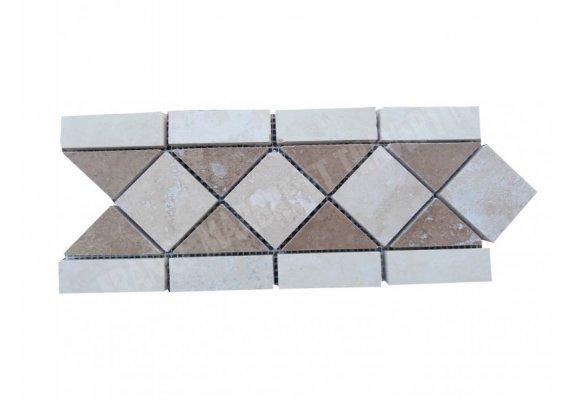 Travertin Frise Classique & Noce Adouci 28,5x12 cm 1