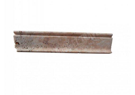 Travertin Moulure Scabos 30x6,5 cm Crown Adouci  1
