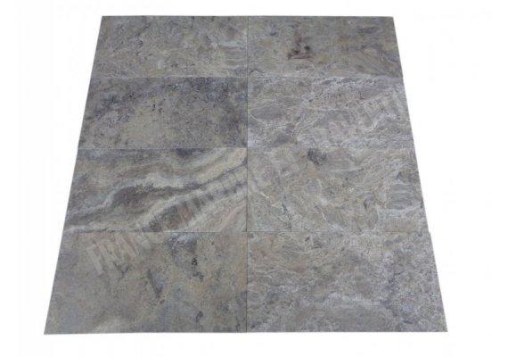 Travertin Gris Silver 30x60x1,2 cm Adouci 1