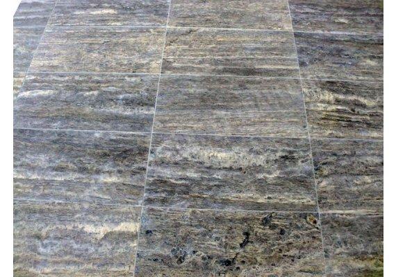 Travertin Silver Veine 30x60x1,2 cm Adouci 1