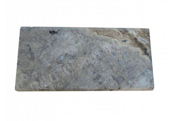 Travertin Silver Couvertine 30x61x5 Arrondi Goutte d'eau 1
