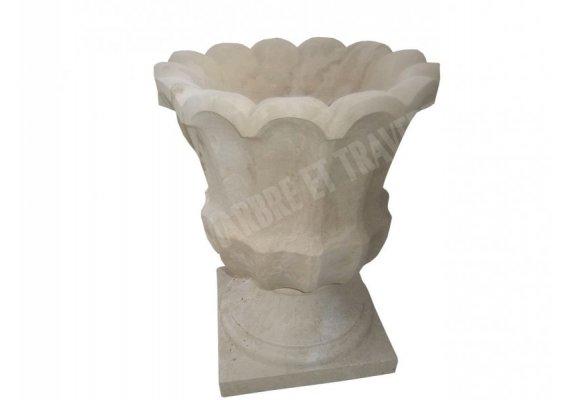 Travertin Classique Pot a Fleur 45x45x50 cm 1