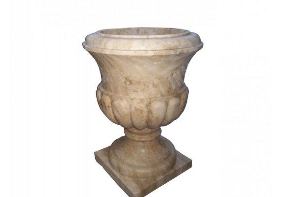 Travertin Classique Pot a Fleur 55x55x60 cm 1