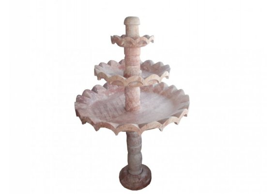 Travertin Rose Fontaine Rond 1