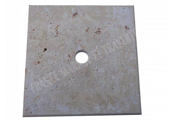 Travertin Beige Chapeau Pilier 30x30x3 cm 1