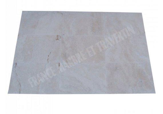 Travertin Ivoire Blanc 40x60x1,2 cm Adouci 1