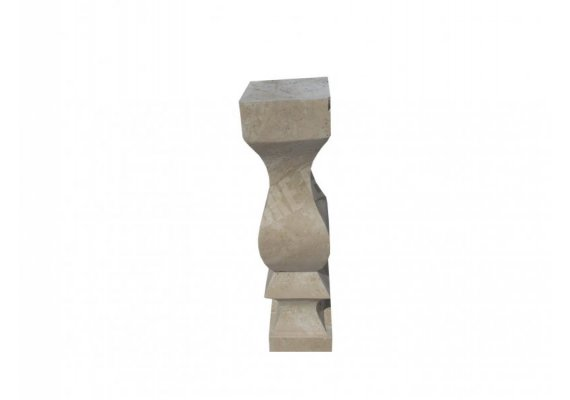 Travertin Classique Balustre 60x15x15 cm 1