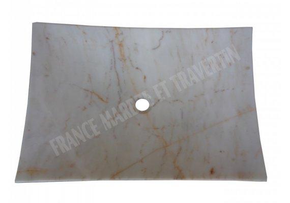 Marbre Afyon Blanc Vasque Plat 45x65 cm  1
