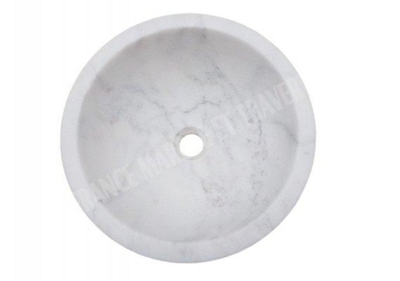Marbre Carrara Blanc Turque Vasque Mini Bol Poli 1
