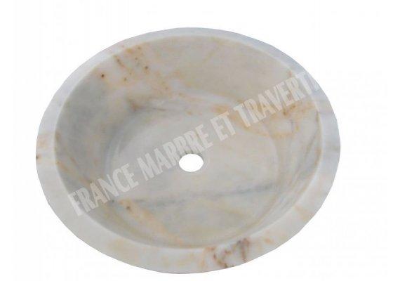 Marbre Afyon Violet Vasque Mi-Conique Strié 1