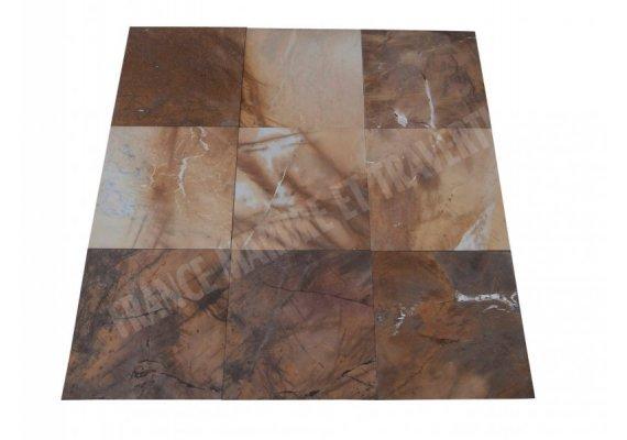 Marbre Jaune Picasso 40x40x1,2 cm Brossé   1