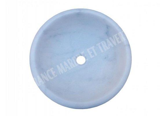 Marbre Blanc Vasque Encastrer Poli 1