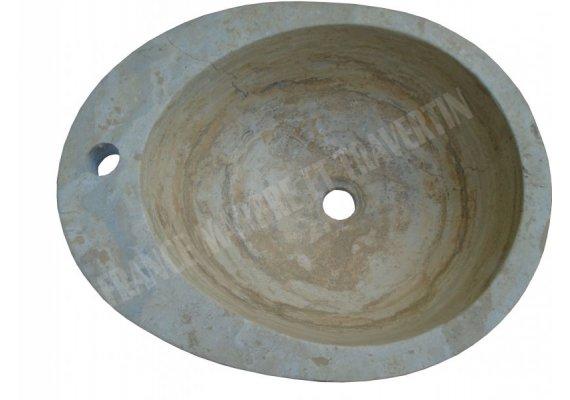 Travertin Classique Vasque Ovale Adouci 1