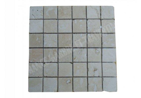 Travertin Classique Mosaïque 4,8x4,8 cm Poli 1