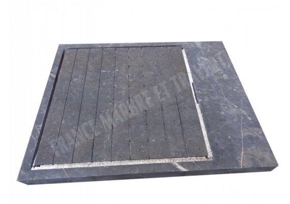 Marbre Noir Bac A Douche 140x110x10 cm 1